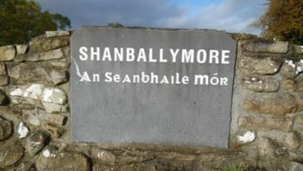 Shanballymore stone placename sign